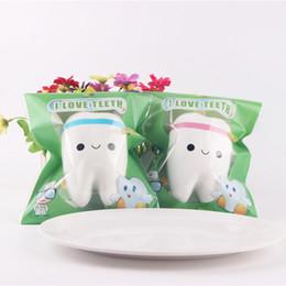 $enCountryForm.capitalKeyWord Australia - New Free Shipping Cute tooth Squishy Kawaii teeth Bag Key Cell Phone Straps Soft toy Simulation toys christmas gift OTH763