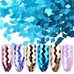 $enCountryForm.capitalKeyWord Australia - 6pcs set Holo Diamond Nail Glitter Sequins Colorful Shiny Rhombus Paillette Flakes 3d DIY Sparkling Manicure Nail Art Decoration