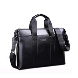 Leather messenger bag men Laptop online shopping - 2018 Famous Brand Designer Briefcase Simple Mens Leather Briefcase Solid Large Business Man Bag Laptop Bag Messenger Bag for Men