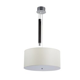 Hang drums online shopping - Modern simple elegant D45cm round drum fabric pendant lamp suspended hanging lamp for bedroom dinning room light fixture