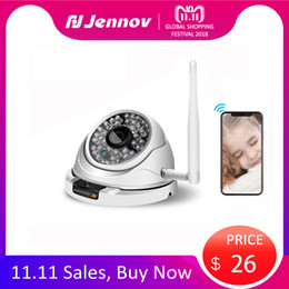 Onvif Camera Sd Australia - 11.11Sale Jennov Wifi IP Camera 1080P 960P 720P ONVIF Wireless Wired P2P CCTV Outdoor Dome Camera Miscro SD Card IP Camara Wi-fi