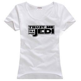 a2e8c1b82eb9e Women s Tee Trust Me I m A Jedi Knight Lightsaber Wholesale Discount Couple Clothes  Woman Cotton T Shirt