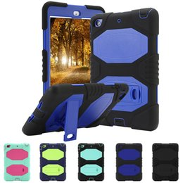 Shockproof ipad caSe Stand online shopping - Hybrid Protective Case Shockproof Rugged Cover Hard Stand for iPad Air Mini th Gen Samsung Galaxy Tab