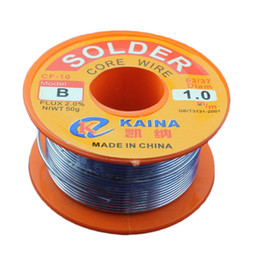 $enCountryForm.capitalKeyWord NZ - Free Shipping Excellent top quality 45FT Tin Lead Line Rosin Core Flux Solder Soldering Welding Iron Wire Reel Hot Selling