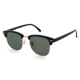 Chinese  Brand design 2018 Hot sale half frame sunglasses women men Club Master Sun glasses outdoors driving glasses uv400 Eyewear whit brown case manufacturers