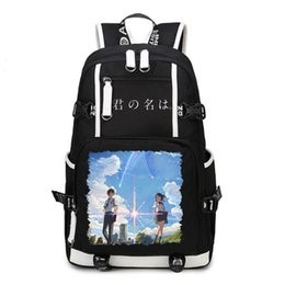 Cosplay names online shopping - your name Backpack Cosplay Tachibana Taki Miyamizu Mitsuha Canvas Bag Schoolbag Travel Bags
