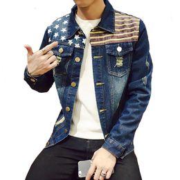 64997f8182b3f M-5XL 4 Styles Autumn Winter Fashion Denim Jackets Men Jeans Slim Fit Mens  Jackets And Coats Casual Bomber Jacket Men