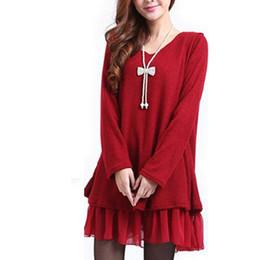 44ab82f212c045 2018 Neue Winter Pullover Kleid Frauen Große Übergroße Gestrickte Chiffon  Pullover Plus Größe L ~ 4XL Lange Pullover Lässige Strickwaren Poncho