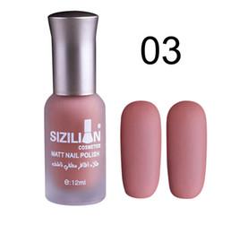 Chinese  Drop shipping matte nail polish 12ml Dull Fast Dry Long Lasting gel polish Nail Art Matte Polish Dry Nail Art manufacturers