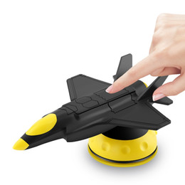 Gps Degrees NZ - Cool Fighter Plane Car Phone Holder 360 Degree Rotation Suction Auto Mobile GPS Stand Holder for iPhone Xiaomi Huawei Sumsung