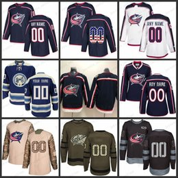 foligno jersey 2018 - Custom Mens Women Youth Columbus Blue Jackets 13 Cam  Atkinson 71 Nick caacf2ac3