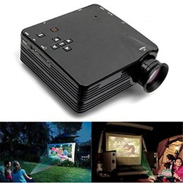 Multimedia Player Lcd Australia - LED Portable Projector Mini LCD Multimedia Player Home Theater Cinema With AV VGA TV USB HDMI Interfaces 1080P Video Games Projector Beamer