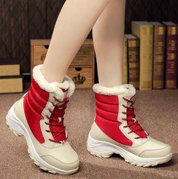 Chaussures femme femme hiver bottes chaudes femme bottes de neige de qualité supérieure 2018 nouveaux modèles de chaussures de dame plus grande taille expédition rapide en Solde