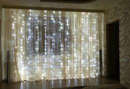 $enCountryForm.capitalKeyWord Australia - 3M x 3M 300 LED Icicle String Lights Christmas Fairy Lights new year xmas Home For Wedding Party Curtain Garden Decoration