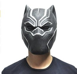 Wholesale New Black Panther Masks Movie Fantastic Cosplay Men s Latex Party Toy for Halloween Top Quality Party Mask