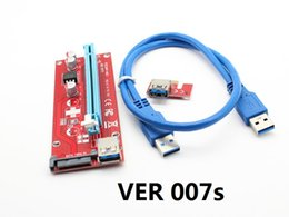 Pci E Power Supply Canada - VER007S VER 007S For Bitcoin Miner Riser PCI-E Extender PCI Express Riser Card 1x to 16x USB 3.0 SATA to 15Pin Power Supply 60cm 100SET
