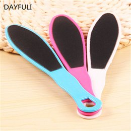 double sided foot file wholesale Canada - TOPHOT 1pcs Double Side FOOT RASP Hard Dead Skin File CALLUS Remover Scrubber Pedicure