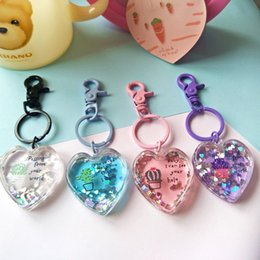 Crystals Souvenir Australia - Fashion Jewelry Love crystal Key Chain Laser Engraved Crystal Keychain Wall Hanging Rings Souvenir Gift Styling Personalized