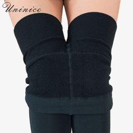 Wholesale Thick Leggings UK - Elastic Waist Women's Leggings Pants Thick Autumn Warm Winter Velvet Office Lady Female Leggins Slim Pencil 2017 Solid Color