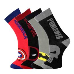Vente en gros Chaussettes à la mode en coton pour hommes MARVEL COMICS Chaussettes à la mode pour femmes NEW
