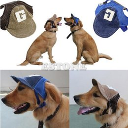 Spring Fall Canvas Shoes Australia - Free Shipping 2018 hot New Coming Canvas Summer Small Pet Dog Cat Baseball Visor Hat Puppy Cap Outdoor Sunbonnet