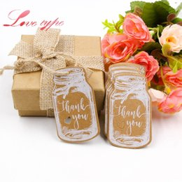 gift tags labels 2019 - Event Party Party Holiday DIY Decorations 50PCS DIY Kraft Paper Tags Handmade Thank You Multi Style Crafts Hang Tag With