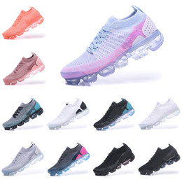 Sh faShion online shopping - 2018 high quality Flagship Shoes men women new white Black grey blue pink knitting trainers fashion designer sneakers Casual sh