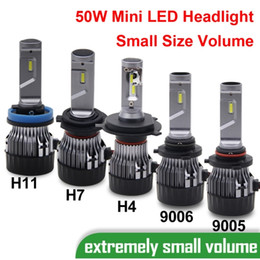 fog fan NZ - 1 Set H4 60W 5000LM Mini LED Headlight H7 H8 H9 H11 9005 9006 9012 HB3 HB4 Small Volume Size CSP Chips Turbo Fan Pure White 6000K Lamps Bulb
