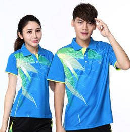 Sportswear T Shirt Badminton Australia - 2018 badminton clothing men women short-sleeved t-shirt lapel table tennis shirt breathable absorbent casual sportswear jersey tennis Shirts