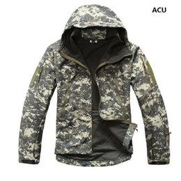 Discount lurker shark skin tactical jacket - Drop shipping Lurker Shark Skin Softshell V5 Military Tactical Jacket Men Waterproof Coat Camouflage Hooded Army Camo Cl