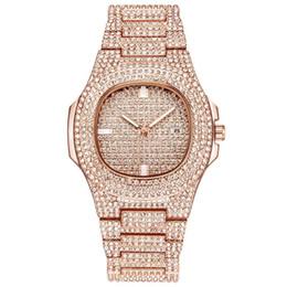 $enCountryForm.capitalKeyWord UK - 2018 diamond Famous Luxury Crystal Dial Bracelet Quartz Wrist Men's Watch Christmas Gift for Ladies Women Gold Rose Gold Silver Wholesale