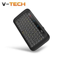 Andriod Tv Windows Australia - H20 2.4G Mini Wireless Keyboard with LED Backlit Backlight Li-ion Battery Multi-touch Touchpad for Andriod TV Box windows PC MAC