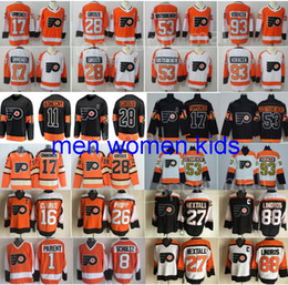 385e2e996 Philadelphia Flyers Jerseys Hockey 28 Claude Giroux Travis Konecny Shayne  Gostisbehere 17 Wayne Simmonds Voracek Ivan Provorov Eric Lindros