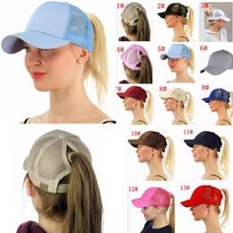 13 Colors CC Lady Baseball Hats Ponytail Caps Horsetail Baseball Cap Women  Girls Back Hole Beach Snapback Pony Tail Cap AAA94 ef30c0ffafca