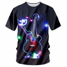 $enCountryForm.capitalKeyWord UK - New Fashion Womens Mens The guitar 3D print Leisure T-shirt JY026