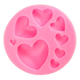 Discount 3d chocolate heart - New Useful 3D Silicone Heart Fondant Mold Cake Decoration Craft Sugar Chocolate Baking Tool