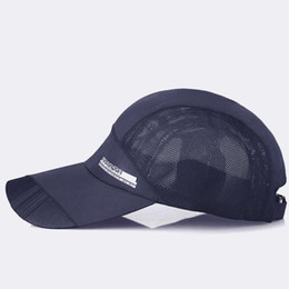 9497b7cd0ff Adult Unisex Mesh Hat Quick-Dry Collapsible Sun Hat Outdoor Running  Sunscreen Adjustable Cap Summer Style Solid Color Cap Women