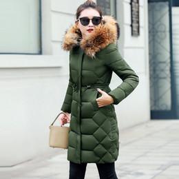 $enCountryForm.capitalKeyWord NZ - Female Jacket Large Real Raccoon Fur Winter Jacket Women 2018 Warm Thicken Hood Winter Coat Women's Cotton Down Parka Plus Size