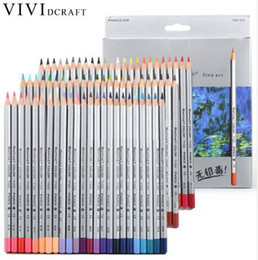 colour pencils set NZ - Vividcraft 24 72 Colors Oil Colored Pencils Set Art Drawing Sketches Plainting Colour Pencil Secret Garde Pencil School Supply