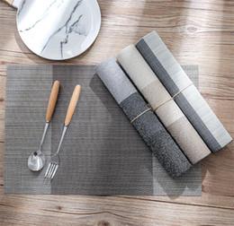 Pvc Placemats online shopping - Simple Placemats PVC Placemat Stripe Bar Mat Acessorios De Cozinha cm Fashion Plate Table Mat Set