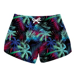 c4d815ee7d Women Short Beach Shorts Palm Jungle 3D Full Print Girl Casual Swimming  Shorts Lady Digital Graphic Beach Pants Boardshort (RLLbp-6052)