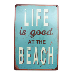 $enCountryForm.capitalKeyWord NZ - LIFE IS GOOD AT BEACH Metal Tin Sign Home Decor Painting Pub Cafe Bar Vintage Plate Art Wall Decoration Poster 30x20cm A945
