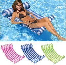 $enCountryForm.capitalKeyWord NZ - 3 Colors Summer Swimming Pool Inflatable Floating Water Hammock Lounge Bed Chair Summer Inflatable Pool Float Floating Bed 60pcs
