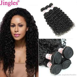 $enCountryForm.capitalKeyWord NZ - 9A Grade Raw Indian Remy Human hair bundles water wave wholesale cheap 100 Remy virgin hair cuticle aligned water wave extensions for sale