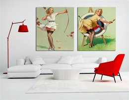 Hot sexy girl figure online shopping - Hot sexy open photos Double spell combination Girl b f wallpaper Wall art canvas painting Poster Body The new listing Sale