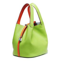 6cc7df36a16a 2018 Luxury genuine leather guaranteed cowhide women handbag Famous brand  lady lock bags female handbag bucket shopping bags Y18102204