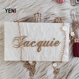 $enCountryForm.capitalKeyWord Canada - YENS Handmade Bling Acrylic Clutch Custom Name Clutch Evening Bags Wedding Bridesmaid Handbag Different Colours Available Y18110101