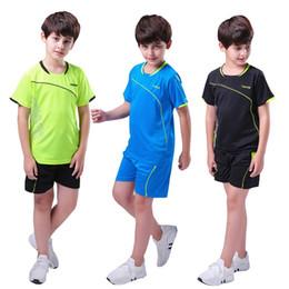 5cbf0394d2c boys kids Running Suit Short Sleeve+Shorts sportswear sports gym basketball soccer  football fitness Clothing soccer tracksuit
