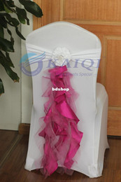 Party Chairs For Sale Wholesale Australia - sale- hot sale 10pcs ivory chiffon chair sash , with tie, for wedding party banquet decoration chair sashes for weddings