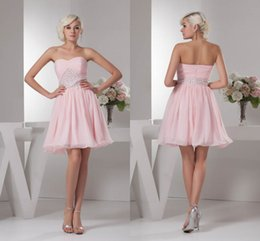 3661d96cbfe New Sweetheart Short Pink Homecoming Dresses 2018 Sleeveless Beading  Crystals Mini Sweet 16 Cocktail Party Gowns